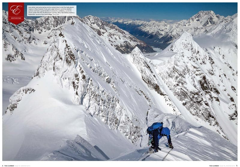 The Climber Magazine New Zealand Issue 92 Elie de Beaumont  Mountaineer