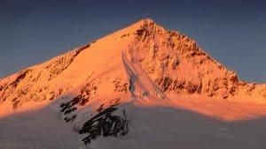 Mt Aspiring Sunset Southwest Ridge South Face