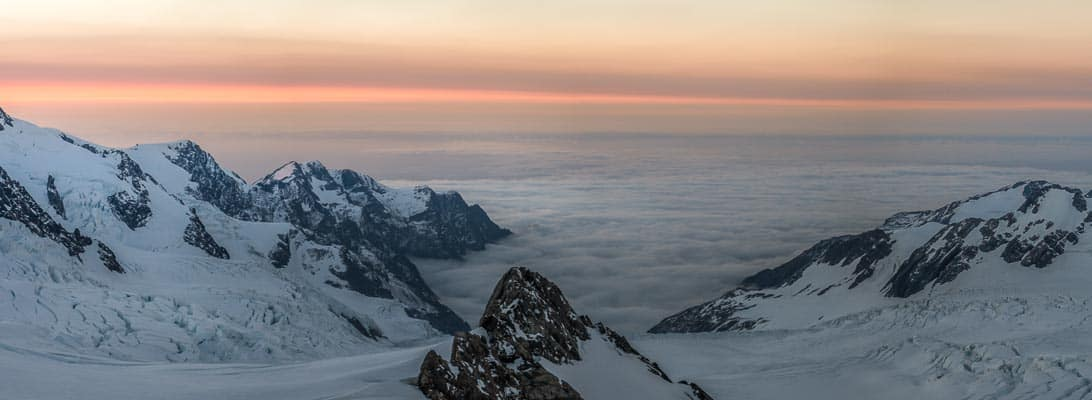Glacier Sunset from Centennial hut