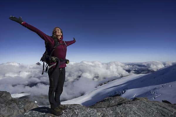 Mountaineering Freedom above the clouds