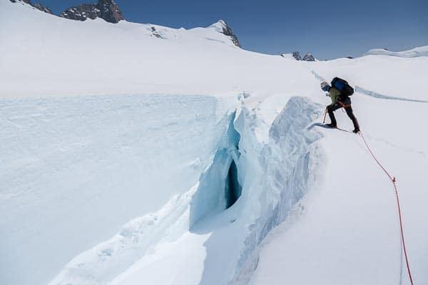 Crevasse on the Franz Josef Glacier Neve