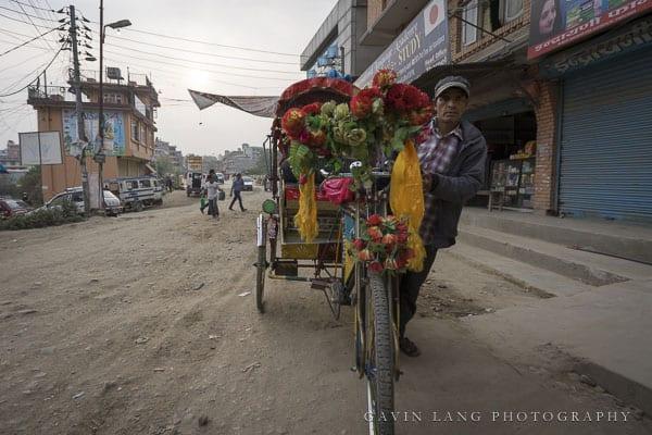 Rickshaw driver in Kathmandu