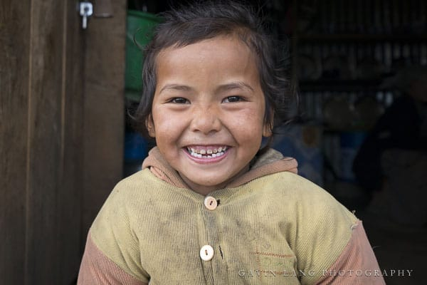 Smiling child at Goli Gompa