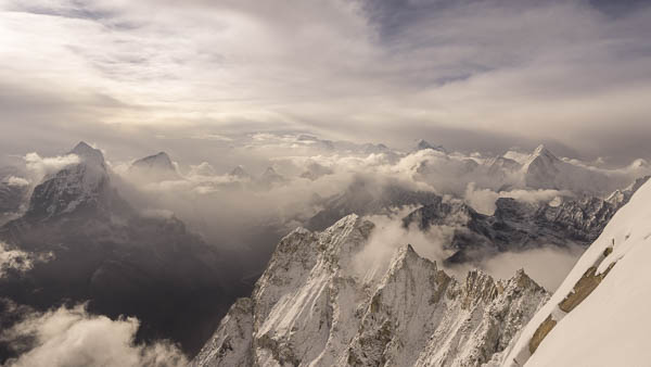 The Himalaya seen from Ama Dablam Southwest Ridge