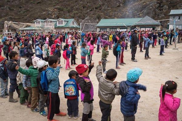Nepalese Schoolkids