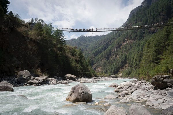 river crossing himalaya