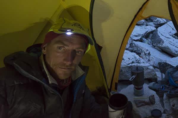 solar light cap in tent