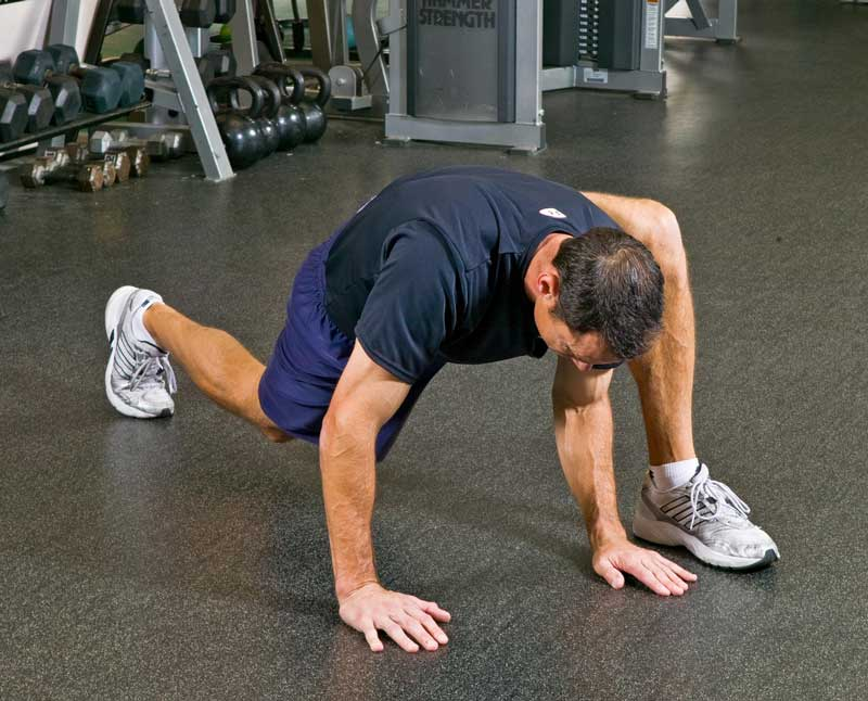 lunge stretch hip mobility