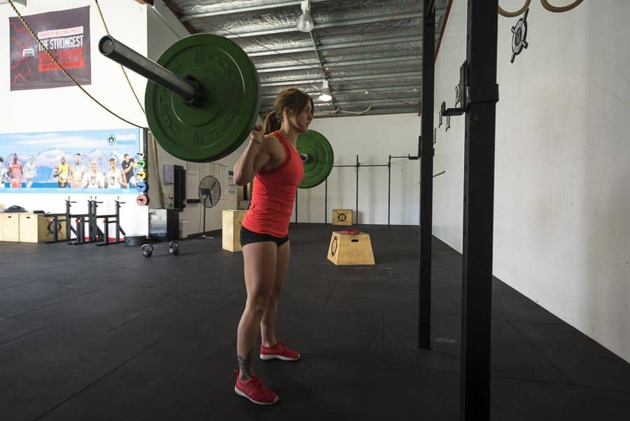 Starting position Barbell back squat